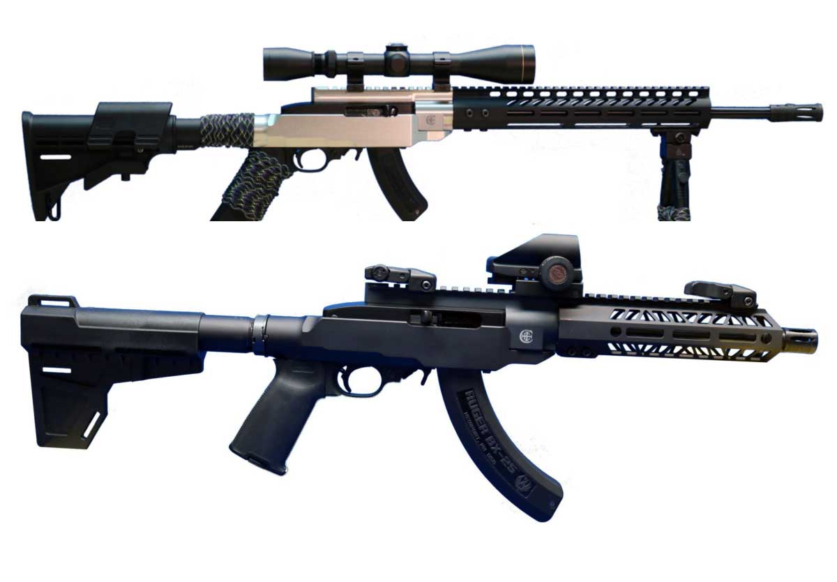Picture of a Crazy Ivan 10/22 Chassis System