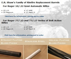 E.R.Shaw Ruger 10/22 Barrels