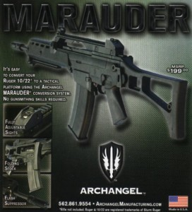 Archangel Marauder Ruger 10/22 G36 Folding Stock
